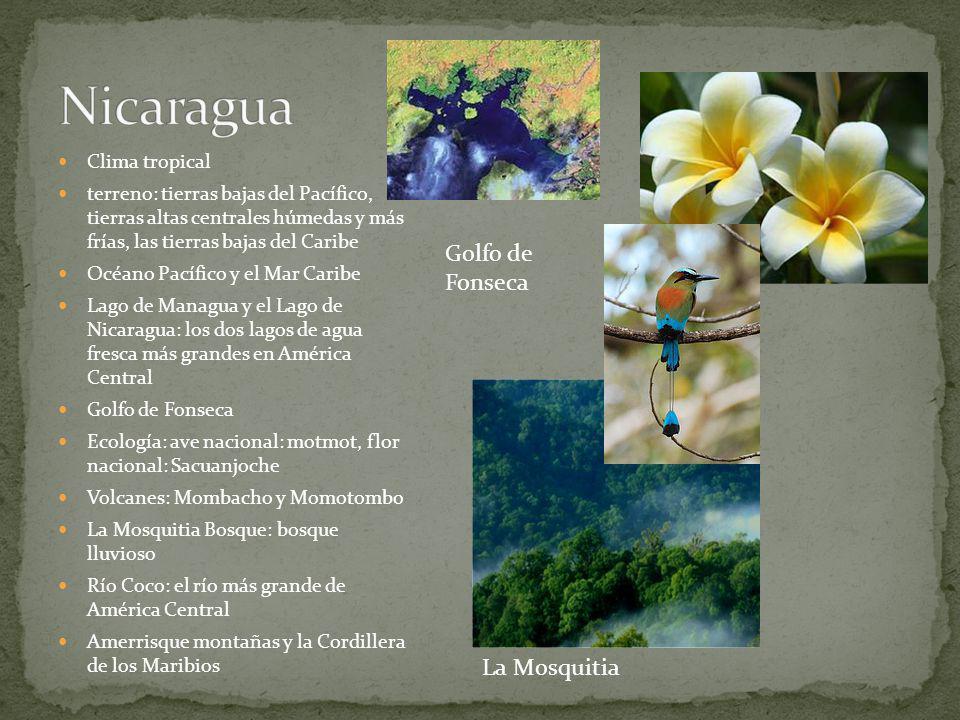 Nicaragua Golfo de Fonseca La Mosquitia Clima tropical