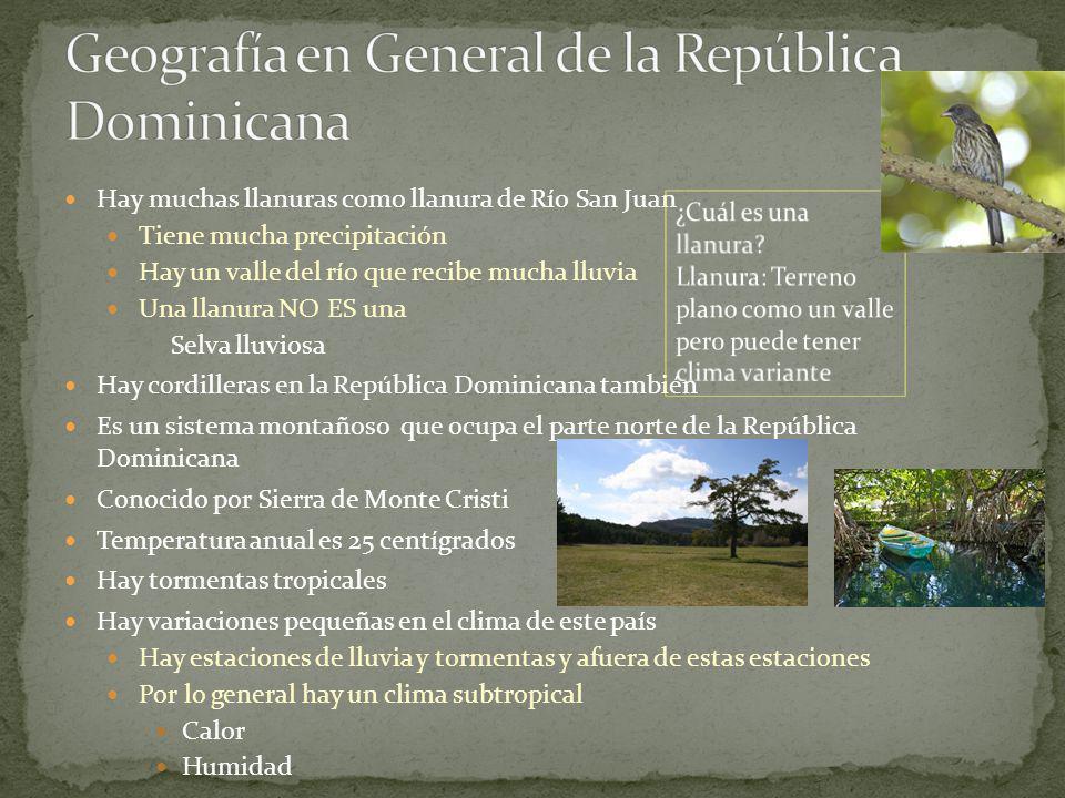 Geografía en General de la República Dominicana