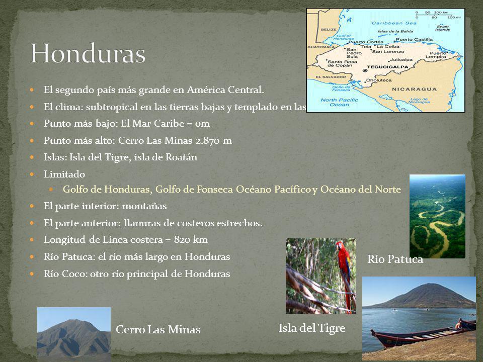 Honduras Río Patuca Cerro Las Minas Isla del Tigre