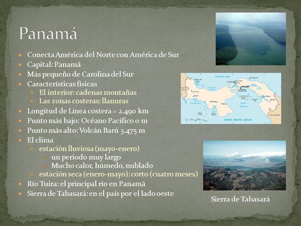 Panamá Conecta América del Norte con América de Sur Capital: Panamá