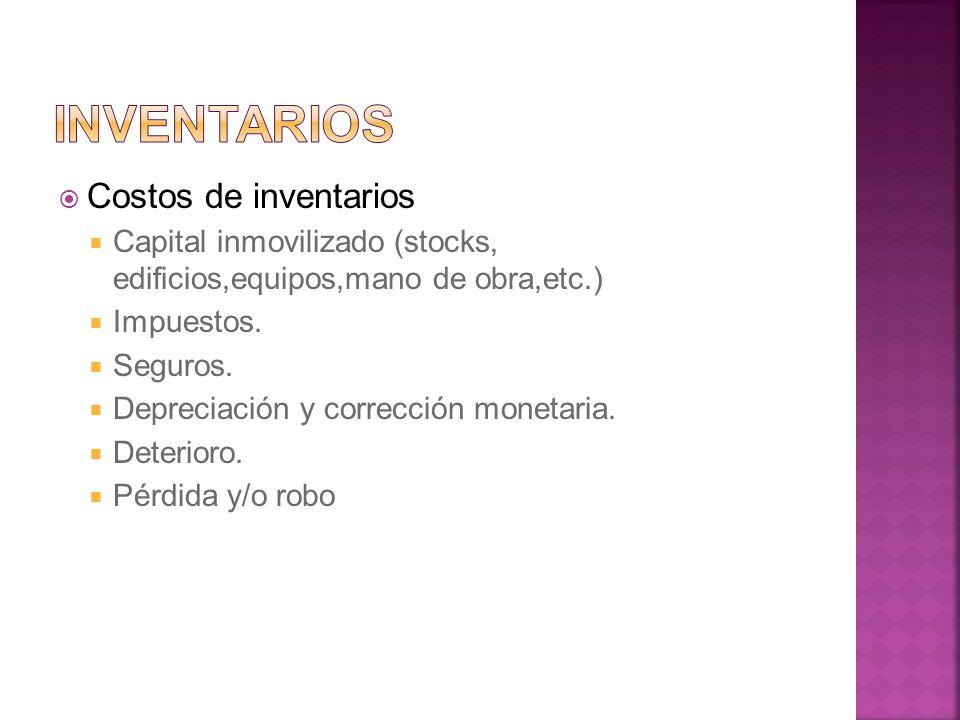 Inventarios Costos de inventarios