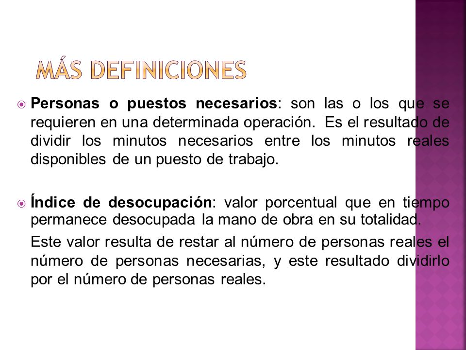 Más definiciones