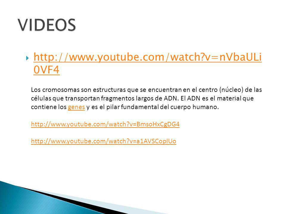 VIDEOS http://www.youtube.com/watch v=nVbaULi 0VF4