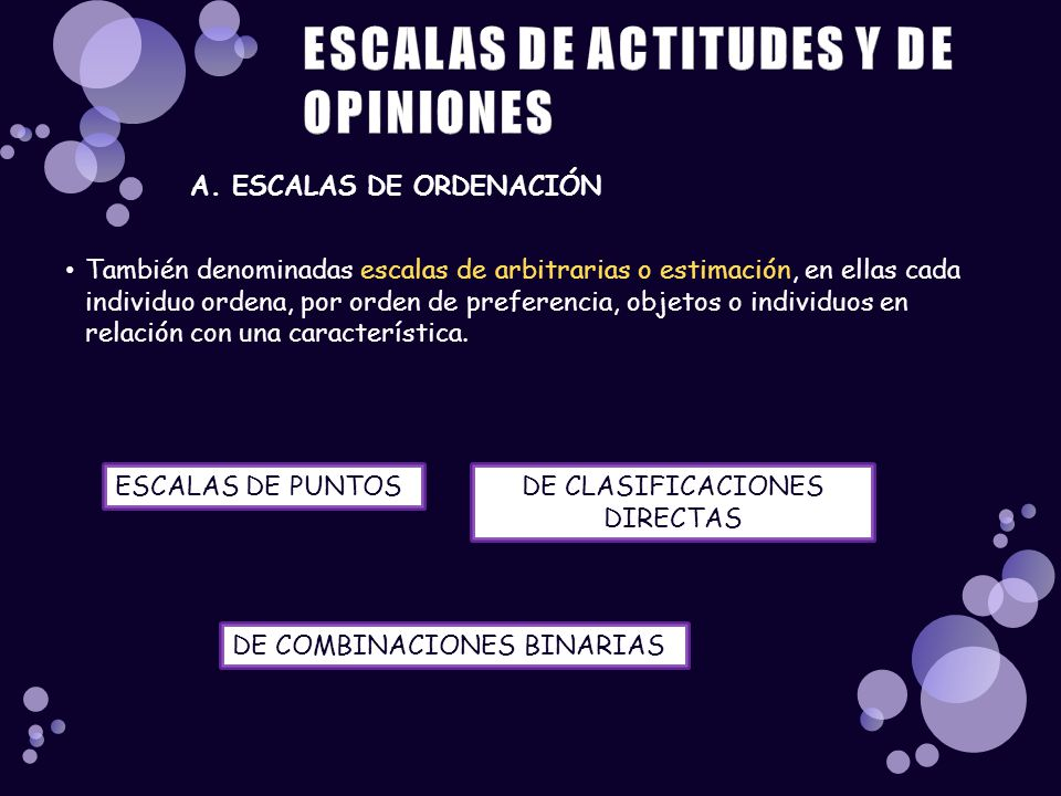 ESCALAS DE ACTITUDES Y DE OPINIONES