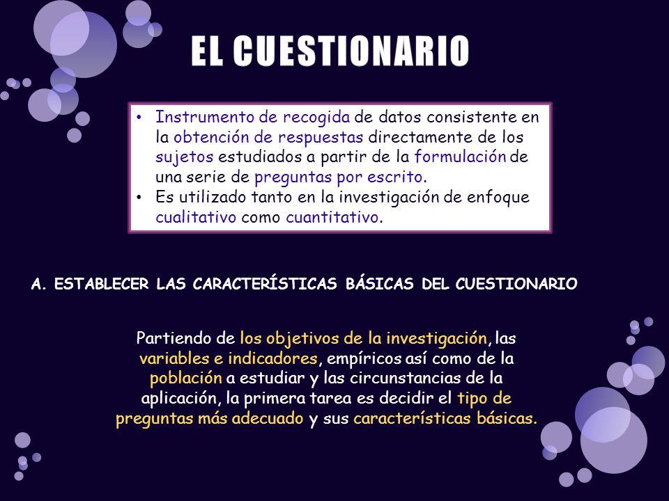 EL CUESTIONARIO