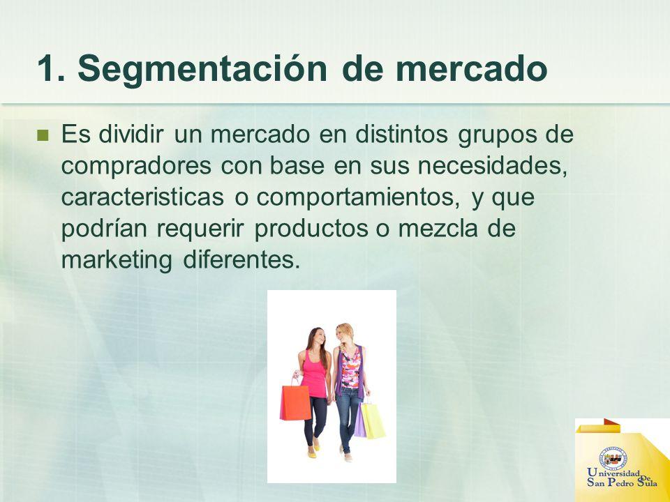 1. Segmentación de mercado
