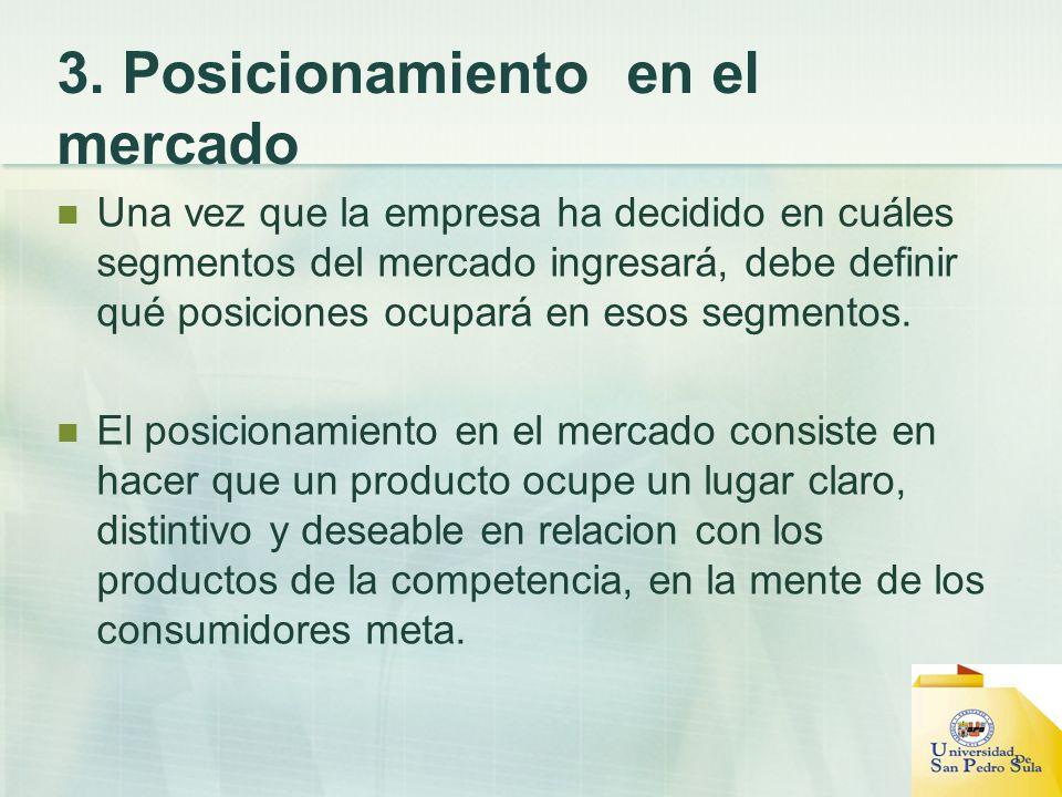 3. Posicionamiento en el mercado