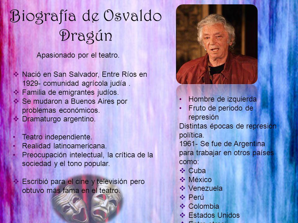Biografía de Osvaldo Dragún