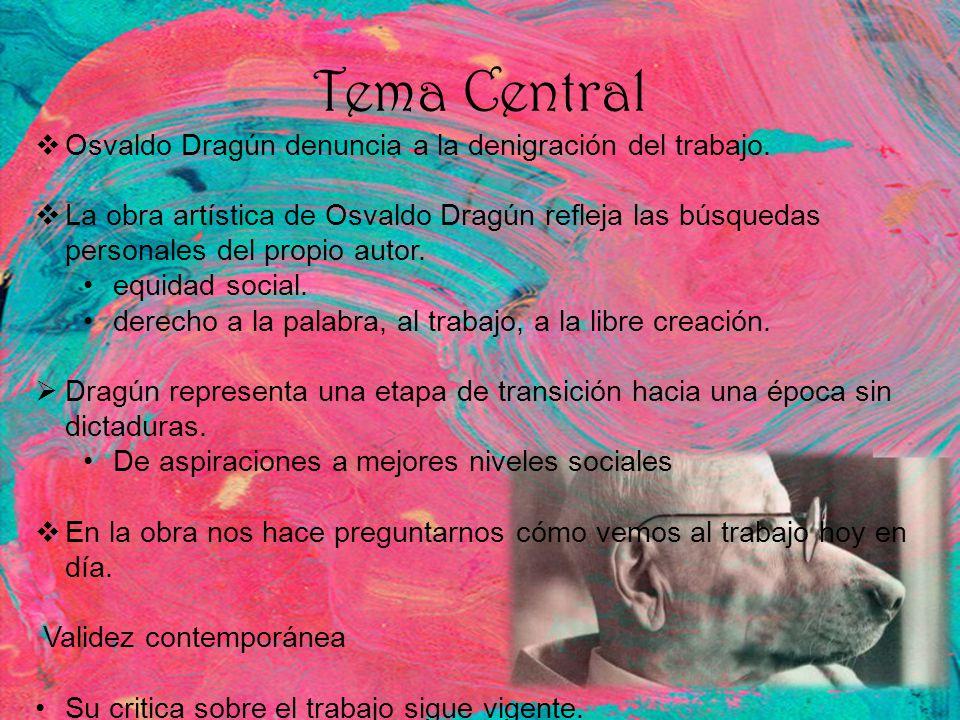 Tema Central Osvaldo Dragún denuncia a la denigración del trabajo.