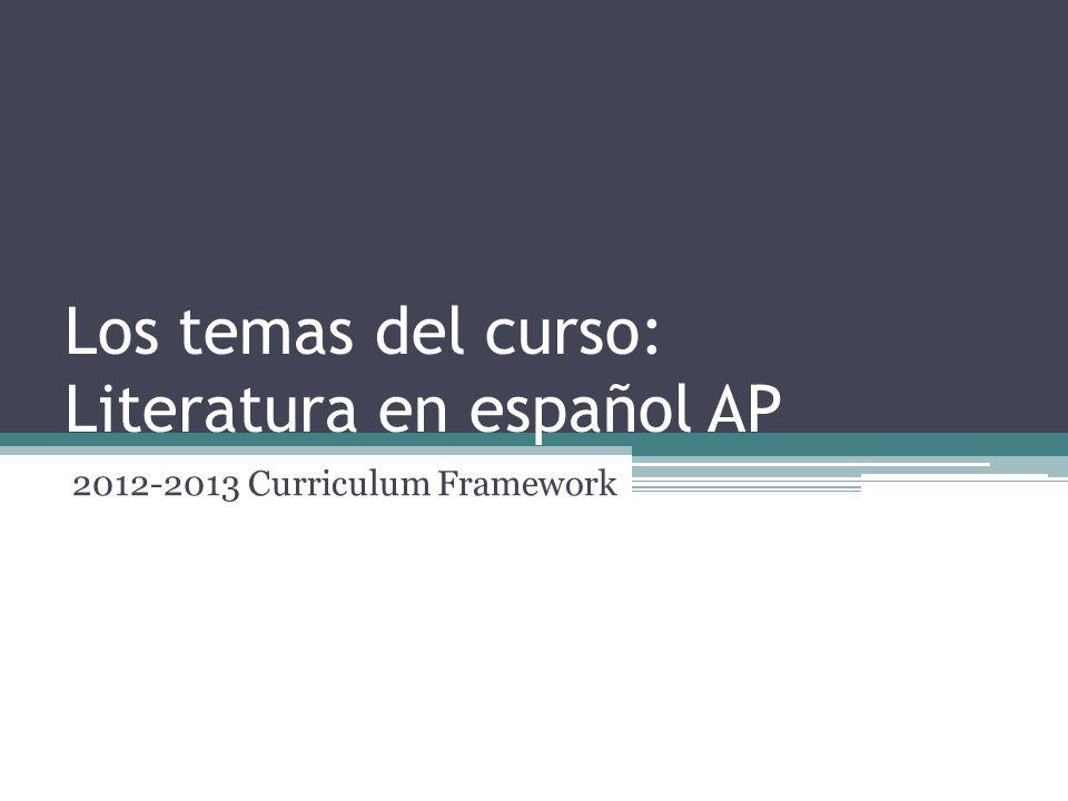 Los temas del curso: Literatura en español AP