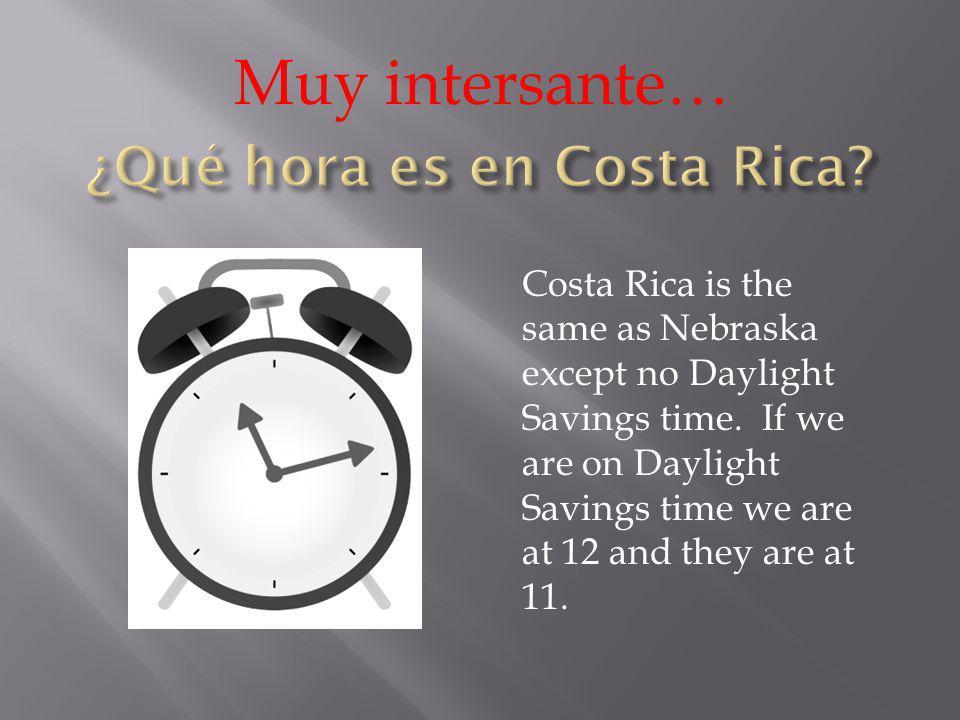 ¿Qué hora es en Costa Rica