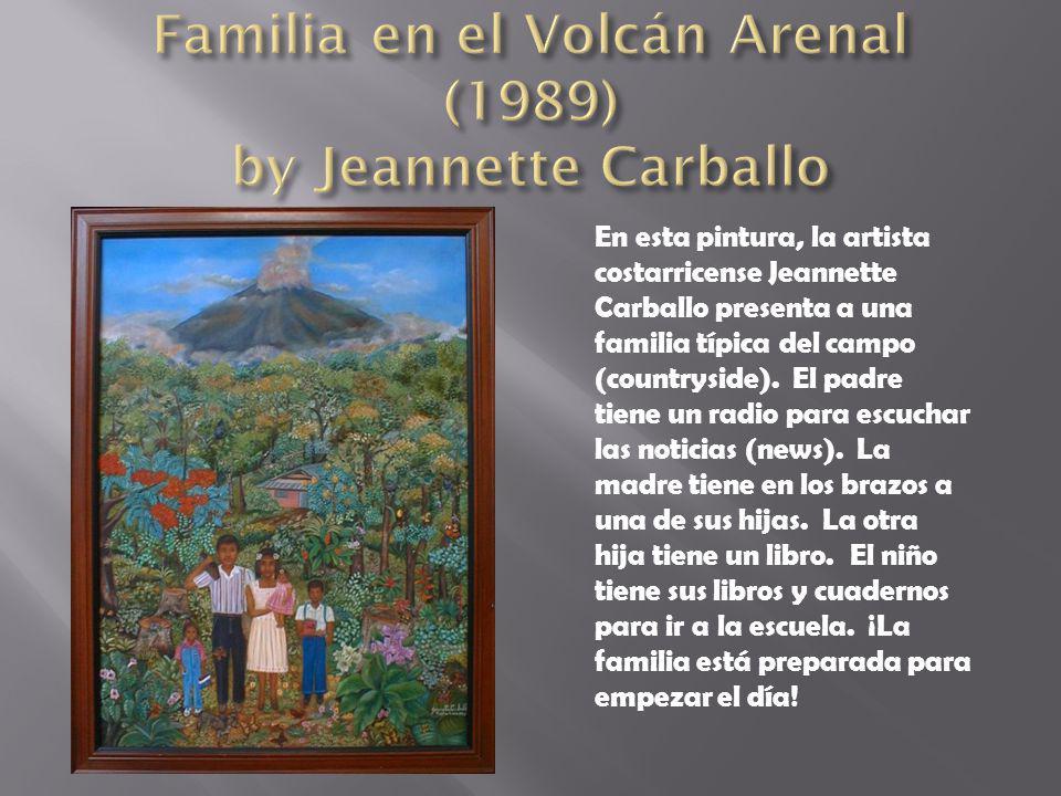 Familia en el Volcán Arenal (1989) by Jeannette Carballo