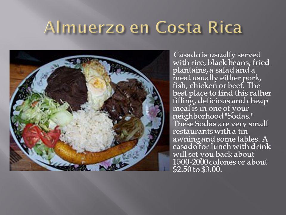 Almuerzo en Costa Rica