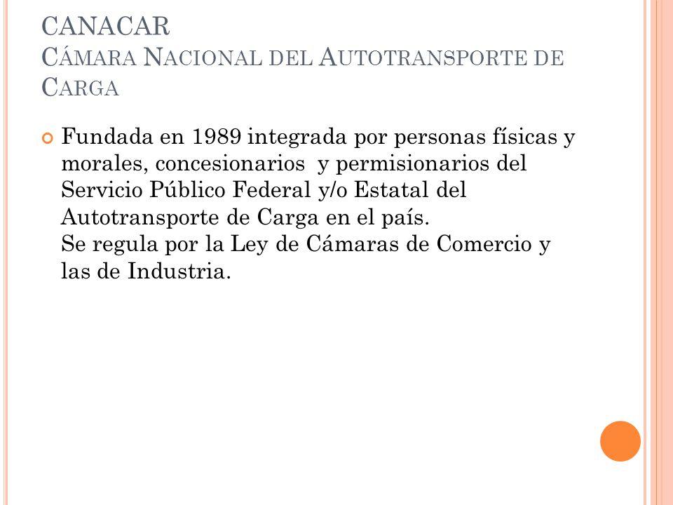 CANACAR Cámara Nacional del Autotransporte de Carga