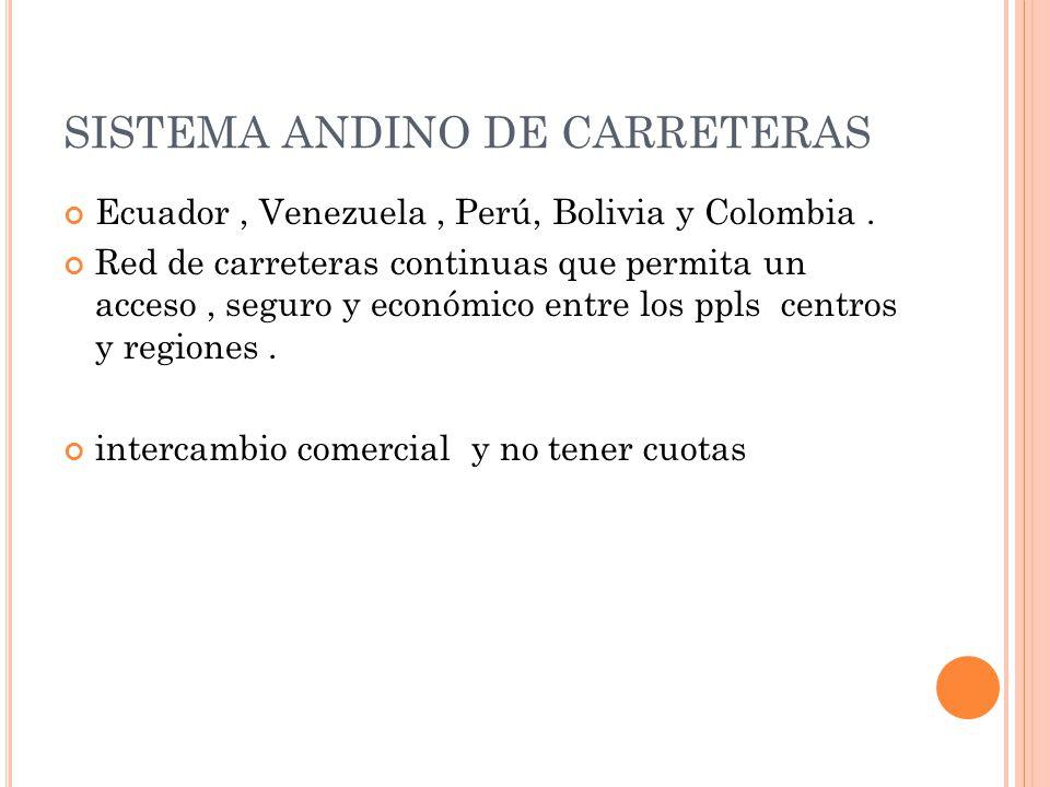 SISTEMA ANDINO DE CARRETERAS