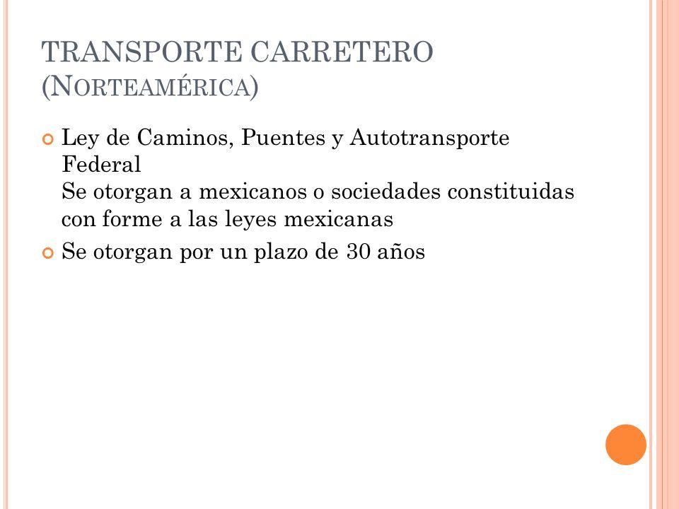 TRANSPORTE CARRETERO (Norteamérica)