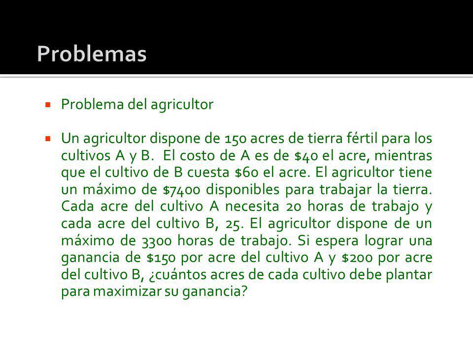 Problemas Problema del agricultor
