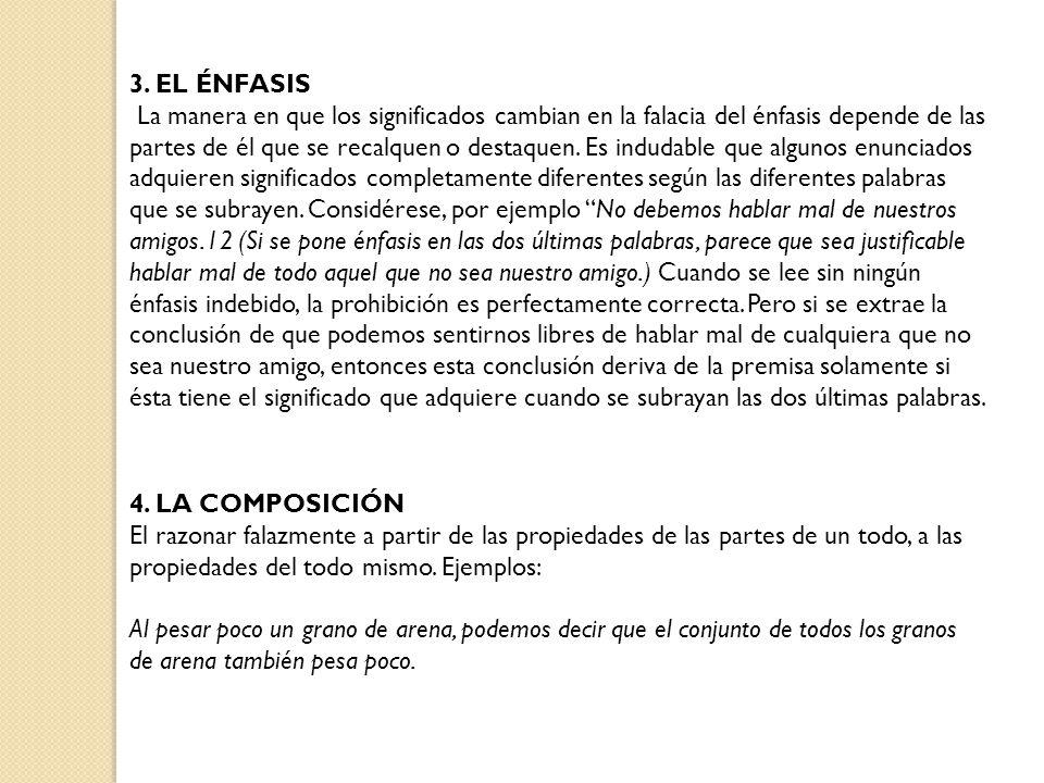3. EL ÉNFASIS