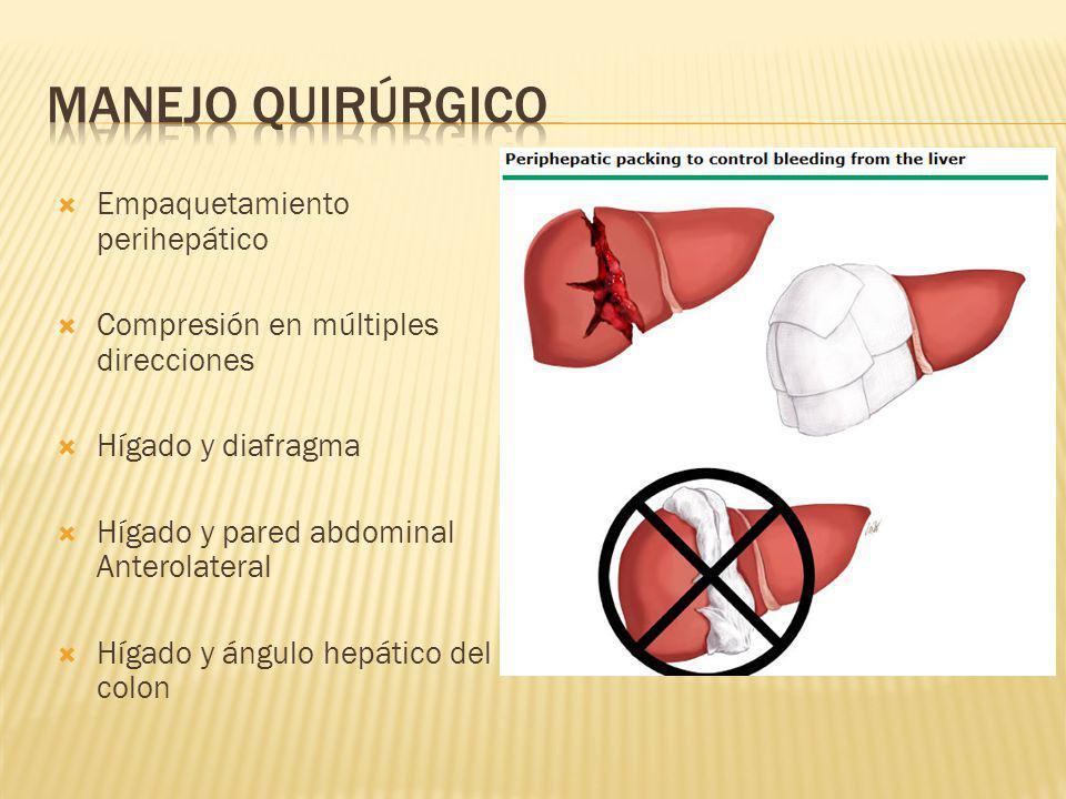Manejo quirúrgico Empaquetamiento perihepático