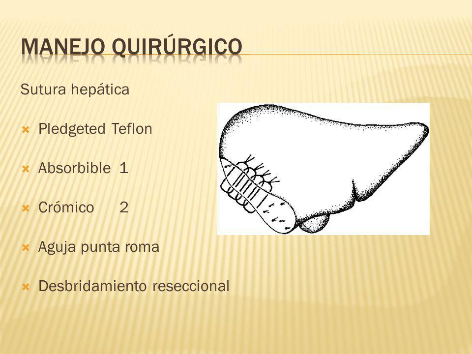 MANEjo quirúrgico Sutura hepática Pledgeted Teflon Absorbible 1
