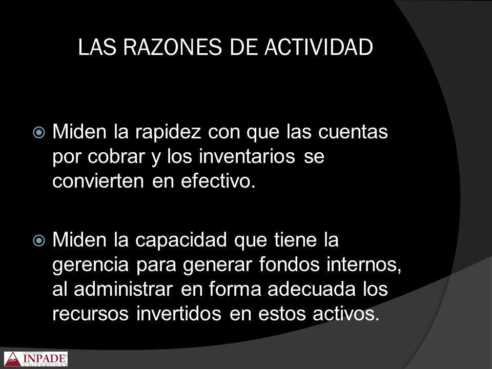 LAS RAZONES DE ACTIVIDAD