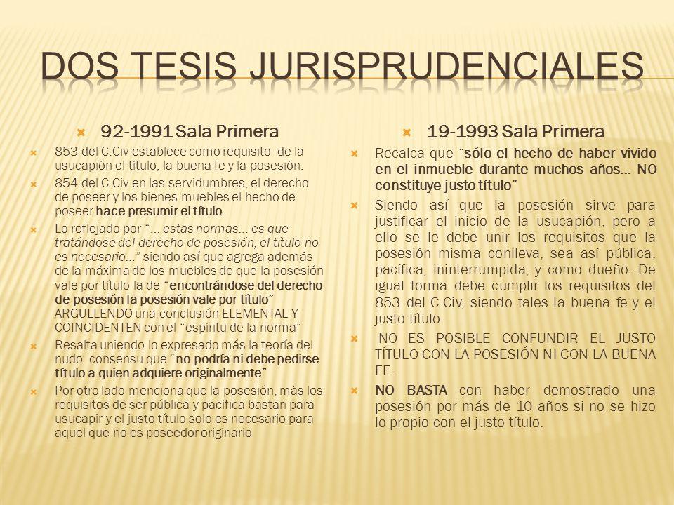 Dos tesis jurisprudenciales