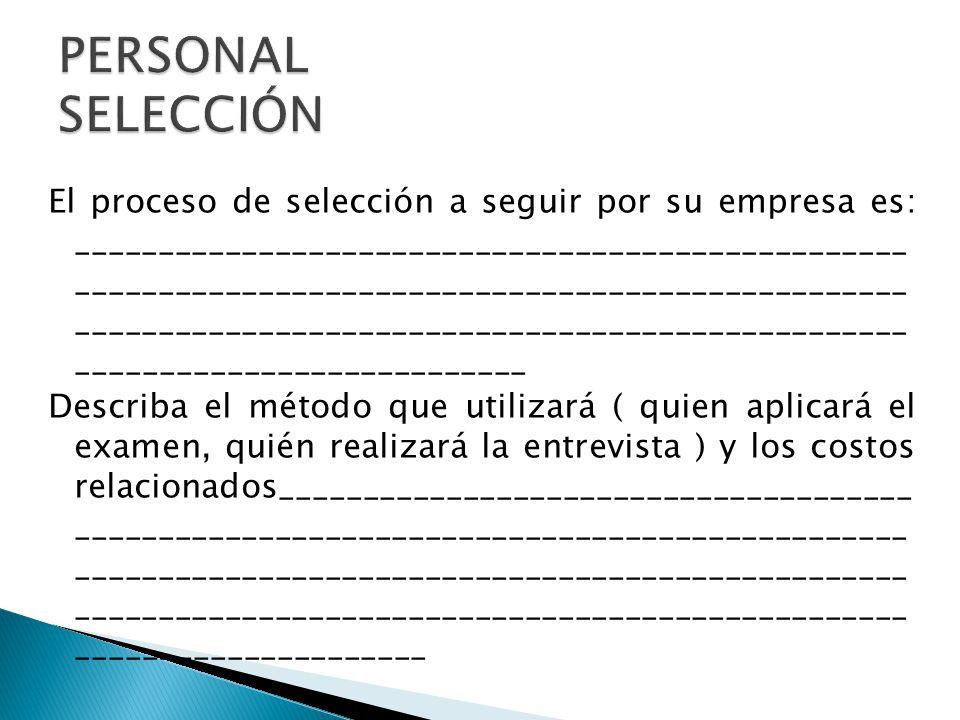 PERSONAL SELECCIÓN