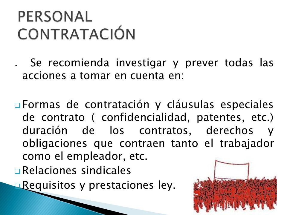 PERSONAL CONTRATACIÓN