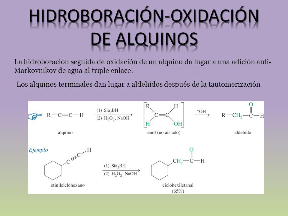 HIDROBORACIÓN-OXIDACIÓN DE ALQUINOS