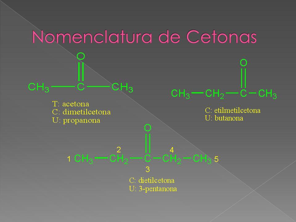 Nomenclatura de Cetonas