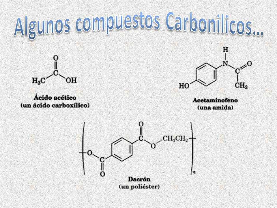 Algunos compuestos Carbonilicos…