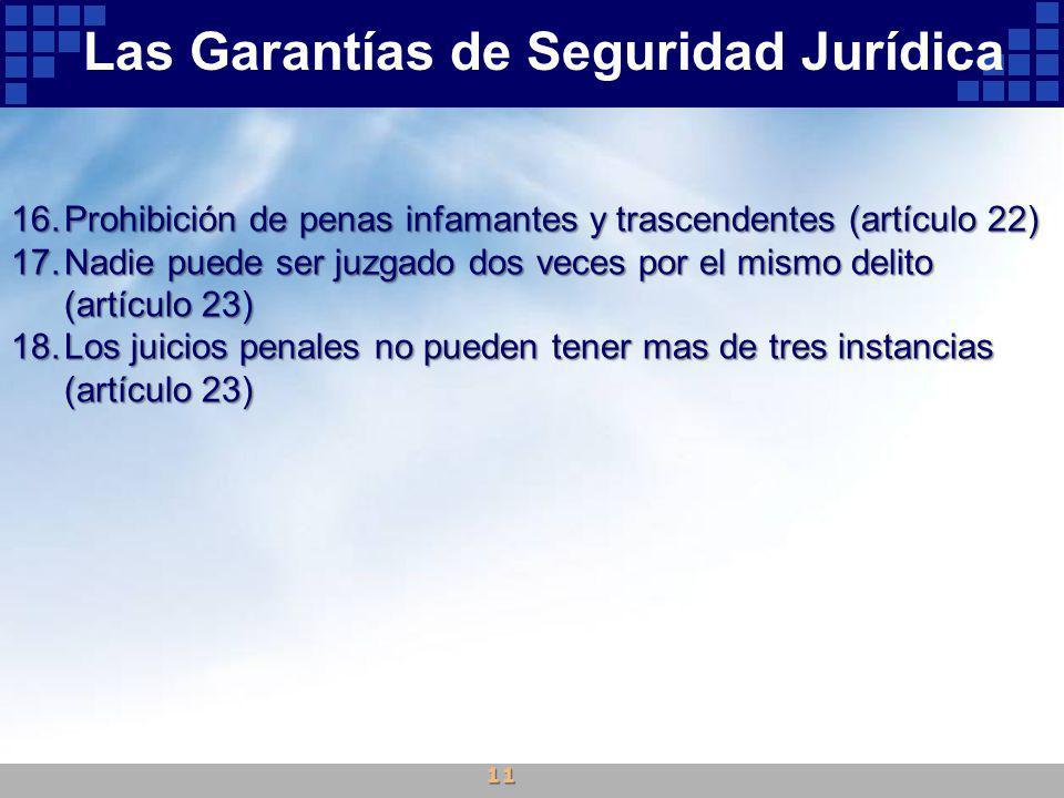 Las Garantías de Seguridad Jurídica