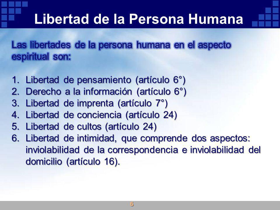 Libertad de la Persona Humana