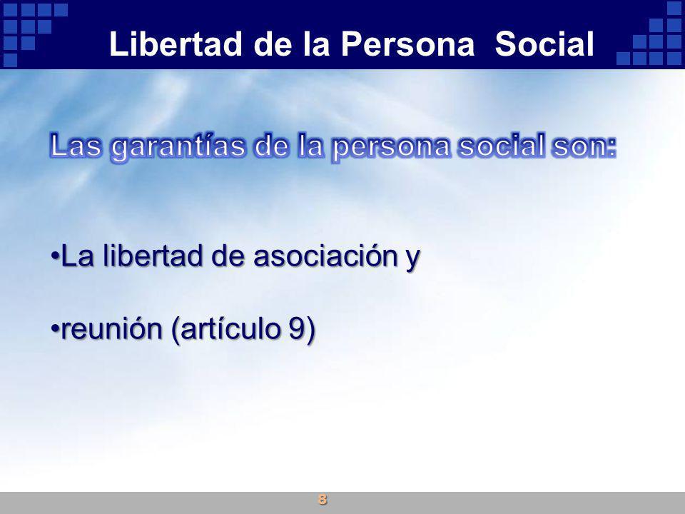Libertad de la Persona Social