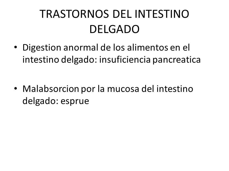 TRASTORNOS DEL INTESTINO DELGADO