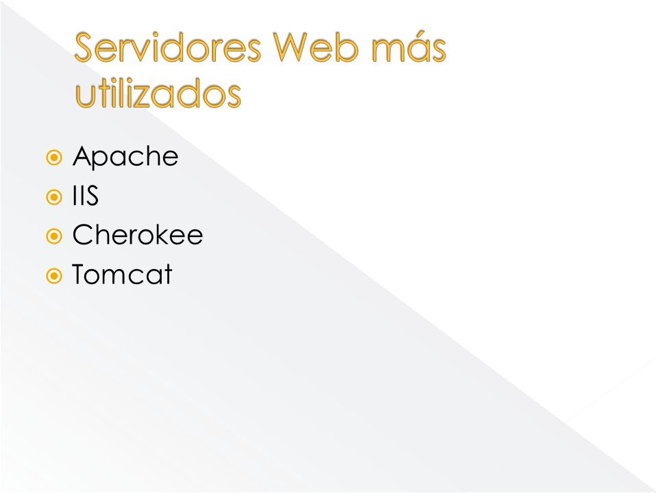 Servidores Web más utilizados