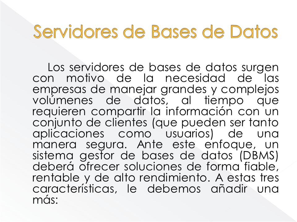 Servidores de Bases de Datos