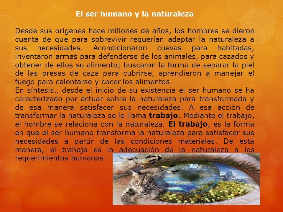 El ser humano y la naturaleza