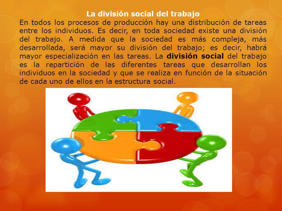 La división social del trabajo