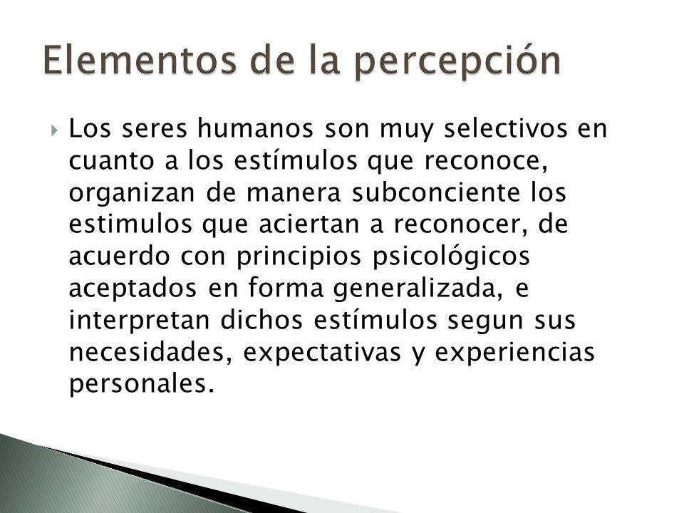 Elementos de la percepción