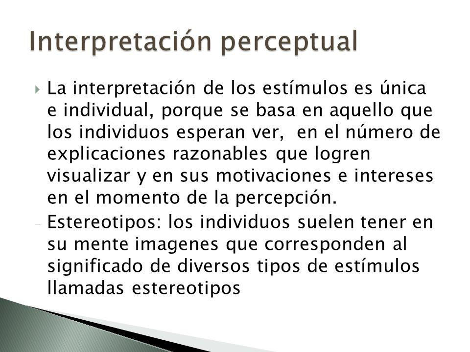 Interpretación perceptual