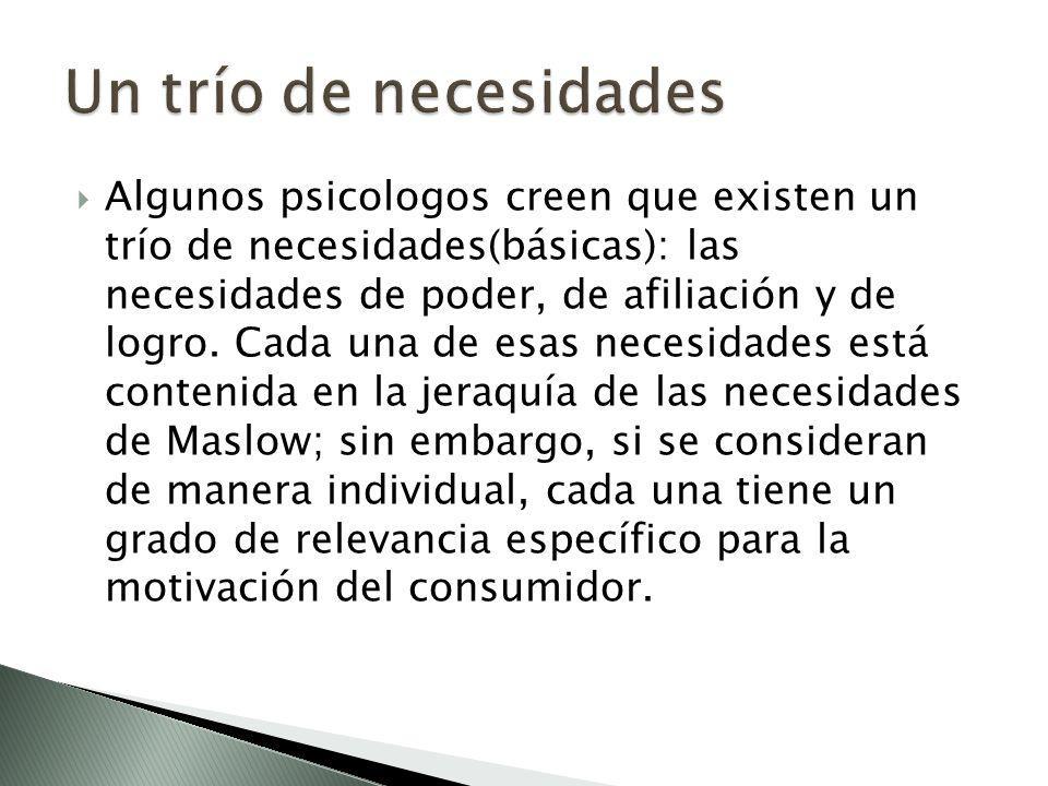 Un trío de necesidades