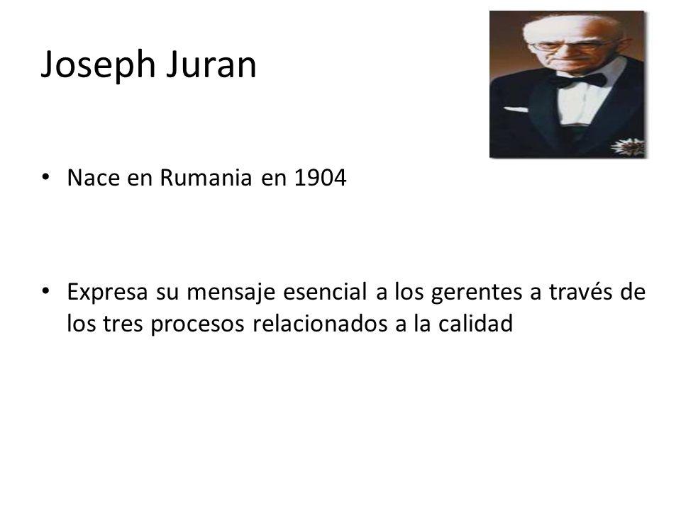 Joseph Juran Nace en Rumania en 1904