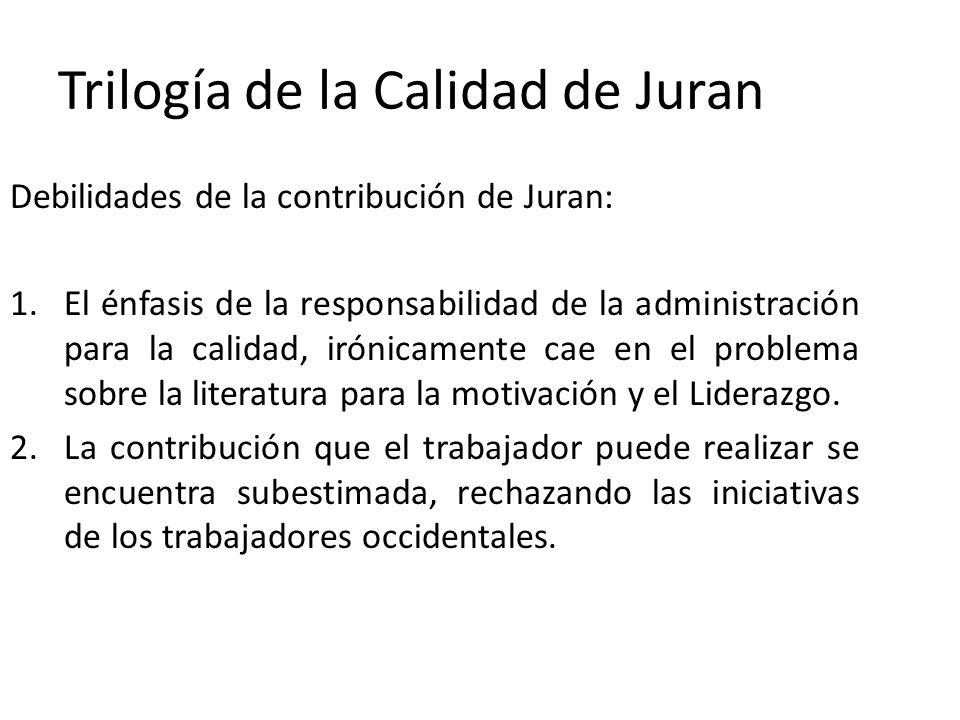 Trilogía de la Calidad de Juran