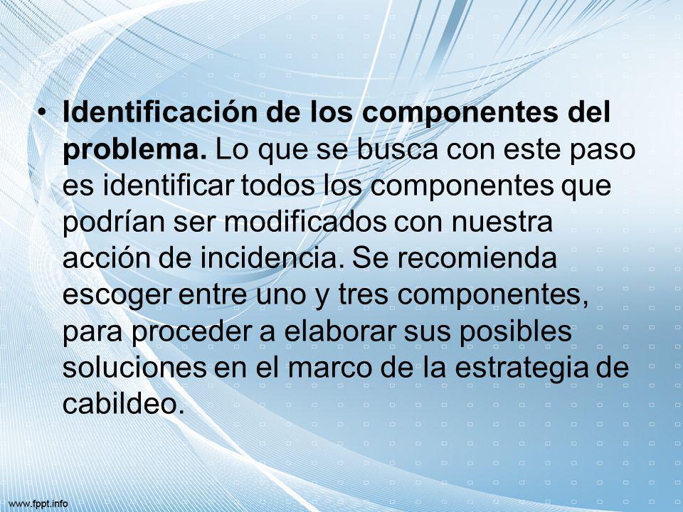 Identificación de los componentes del problema
