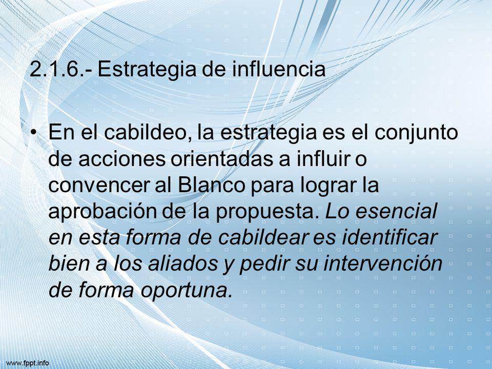 2.1.6.- Estrategia de influencia