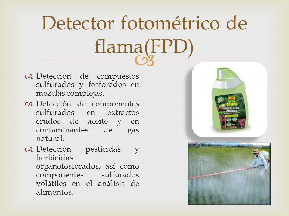 Detector fotométrico de flama(FPD)
