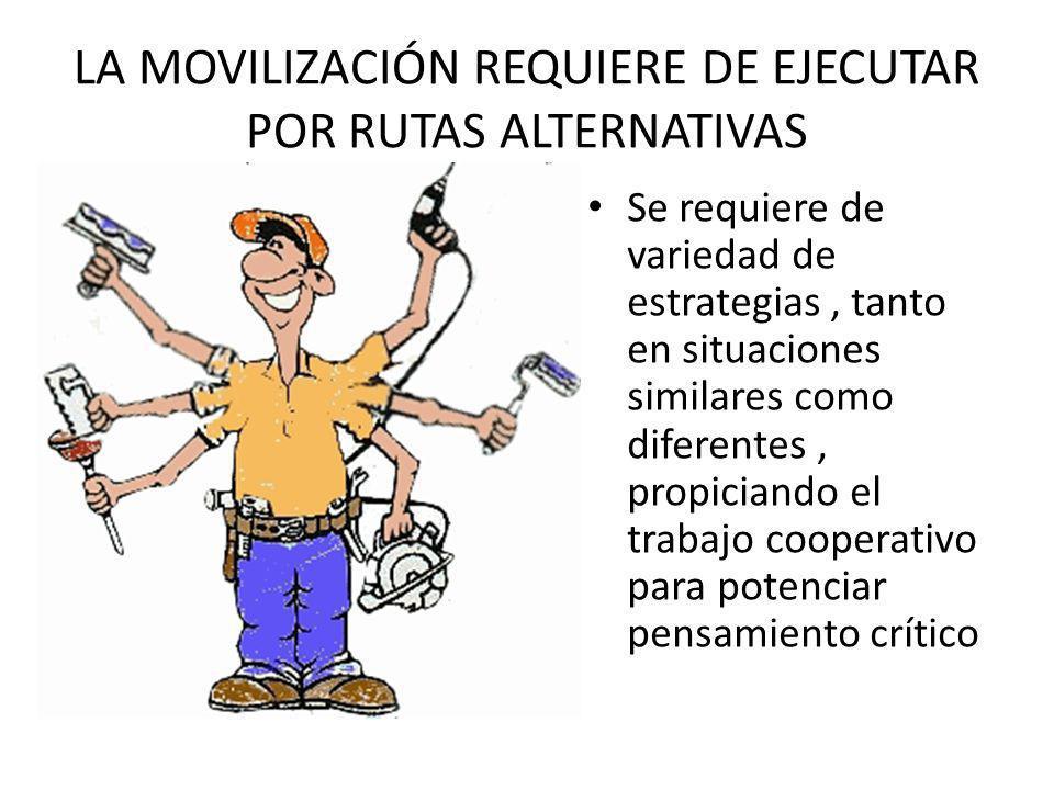 LA MOVILIZACIÓN REQUIERE DE EJECUTAR POR RUTAS ALTERNATIVAS