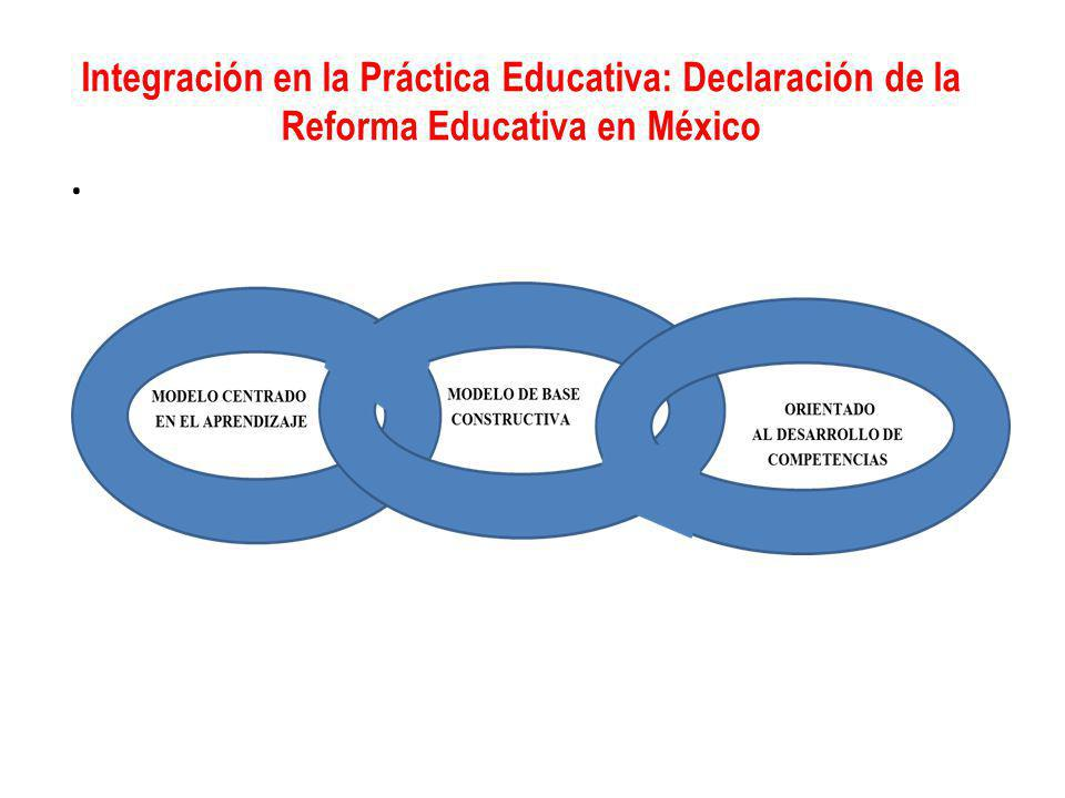 Integración en la Práctica Educativa: Declaración de la Reforma Educativa en México