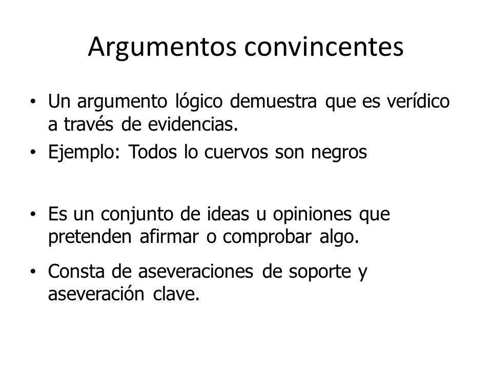 Argumentos convincentes